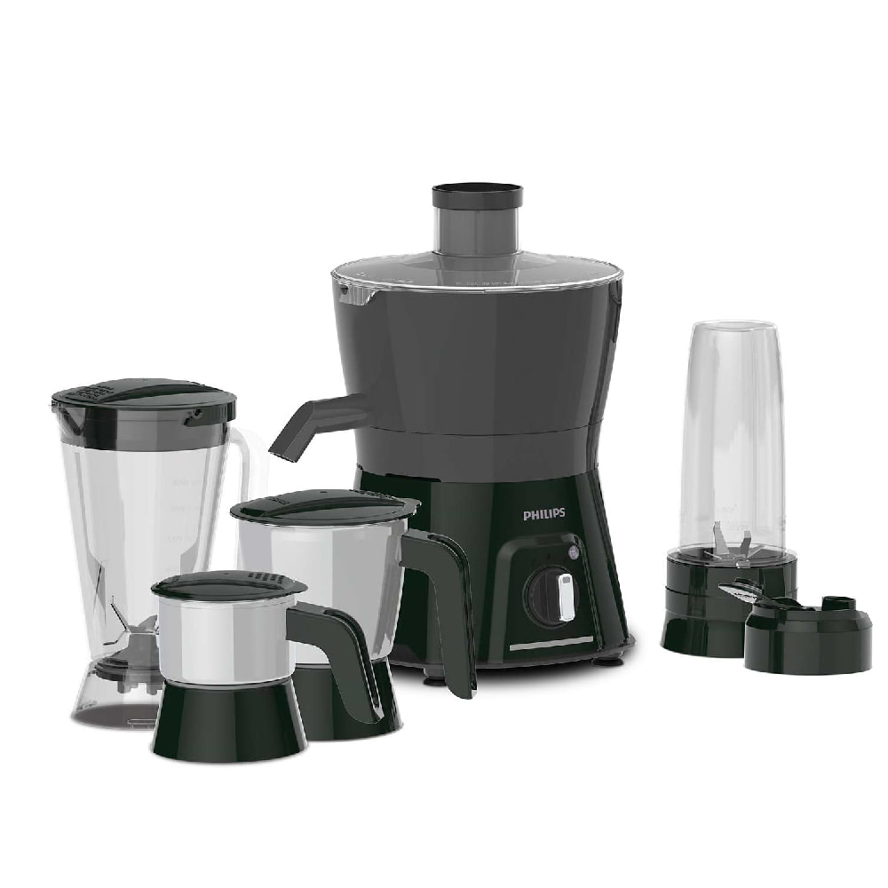 Philips Viva Collection 600 Watts 3 Jars Juicer (Blend and Carry Sipper, HL7580/00, Black)