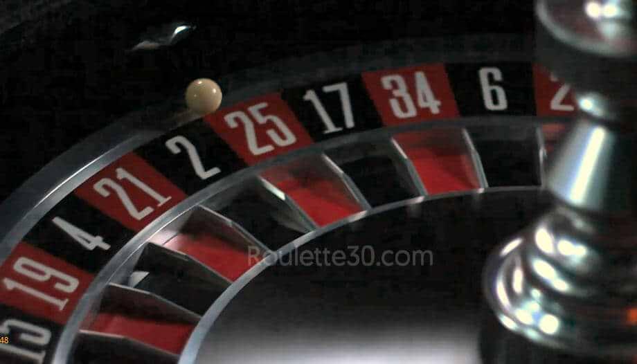 evolution live roulette wheel closeup